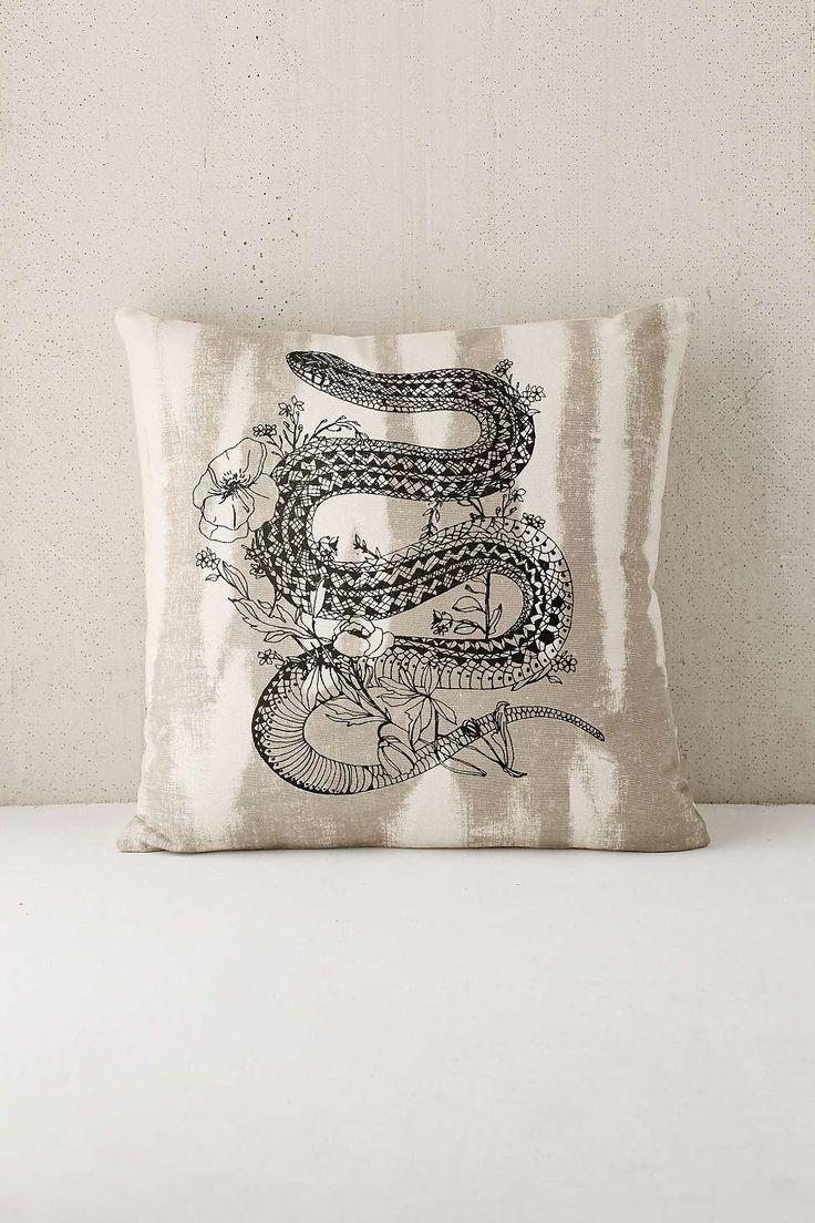 Coussin à motif serpent