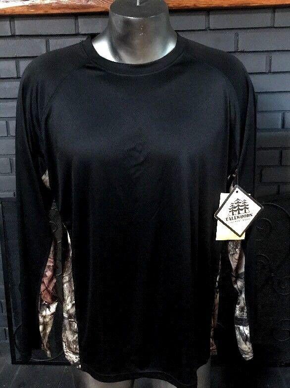 NEW Tallwoods Long Sleeve Shirt Mossy Oak Black And Camo Men's Size Large #MossyOak #LongSleeveShirt