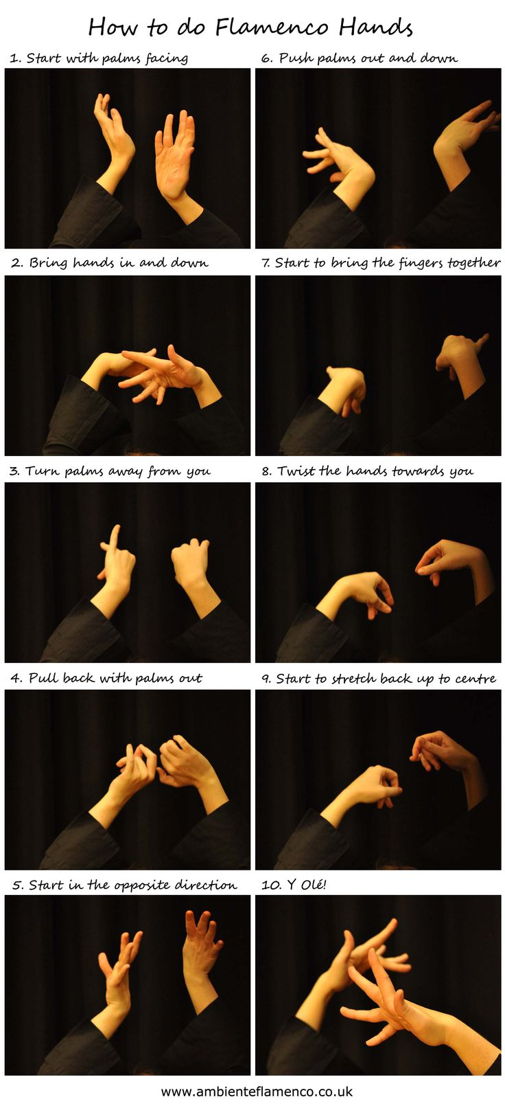 How to do Flamenco hands!                                                                                                                                                                                 Plus
