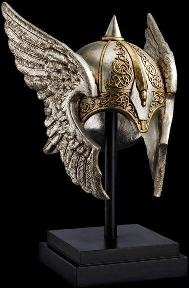 Valkyrie Viking Helmet Sculpture Display Replica Reproduction