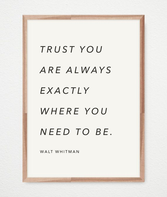 WALT WHITMAN (Exactly) Literary Quote // 12 x 16 Typography Print // Premium FSC-Certified Paper // Vintage, Black and White Wall Art