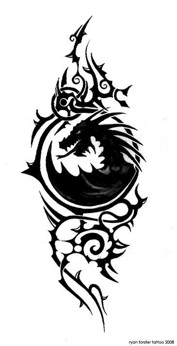 dragon tattoo edit by sethius2 by sethius