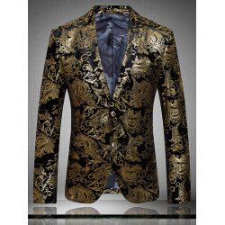 SHARE & Get it FREE | Golden Flower Print Lapel Long Sleeve Blazer For MenFor Fashion Lovers only:80,000+ Items • FREE SHIPPING Join Twinkledeals: Get YOUR $50 NOW!