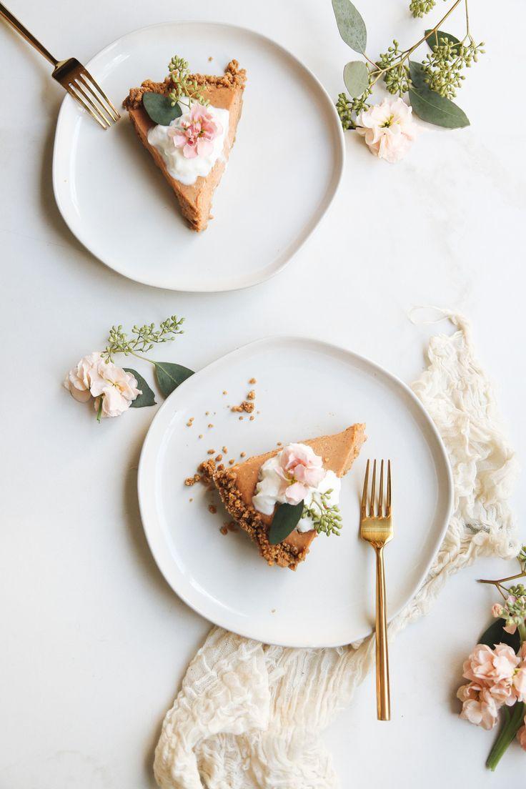 No Bake Gingersnap Pumpkin Pie by top Houston lifestyle blogger Ashley Rose of Sugar & Cloth #desserts #dessertrecipes #recipes