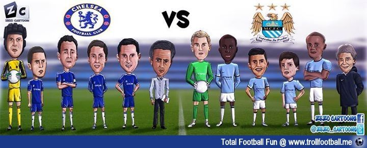ZezoCartoon : Man City vs Chelsea : http://www.trollfootball.me/display.php?id=20301  #football #soccer #MCFC #CFC #ChelseaFC# ManchesterCity #PremierLeague #Mourinho