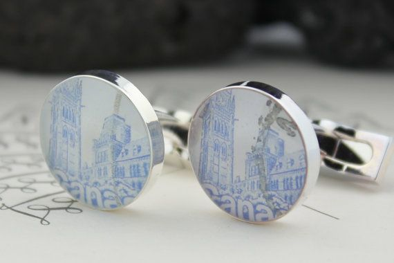 CANADA CUFFLINKS  Canadian Cuff links  by HudsonBlueArtisans, $49.00