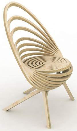 Octave pour Estampille 52 - Octave est un fauteuil d'exception, fruit de spirale trompe-l'œil