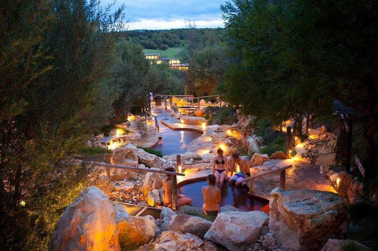 Mornington peninsula hot springs in Victoria, Australia