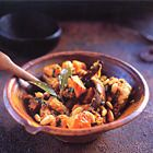 Tajine met kip en pompoen met saffraan