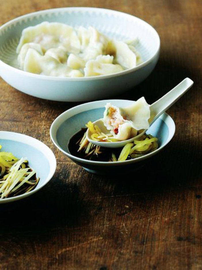 【ELLE a table】酒盗の水餃子 黒酢とたくわん、しょうがのたれレシピ エル・オンライン