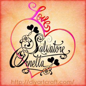 Romantic names: Salvatore Ornella #heart #tattoo