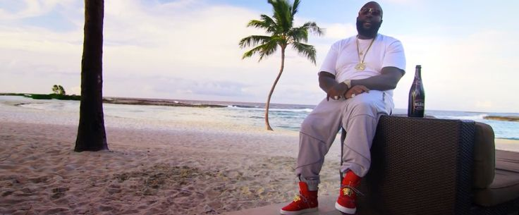 Versace red high tops sneakers worn by Rick Ross in SUPREME by ...