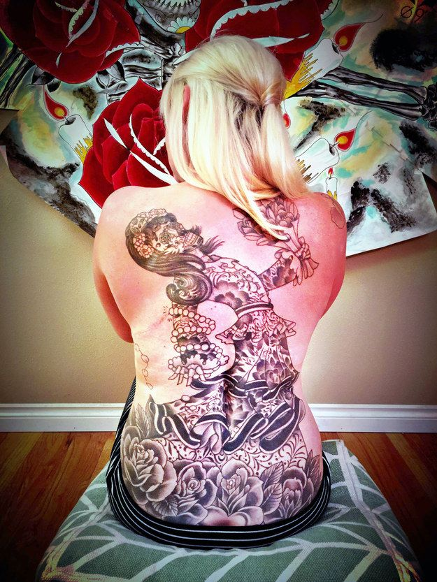 This full-back piece that covers spinal cord surgery scars. | 20 Badass Tattoos Inspired By Health And Wellness
