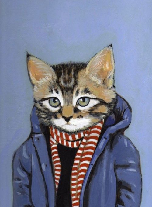 Well-dressed cat by heather mattoon
