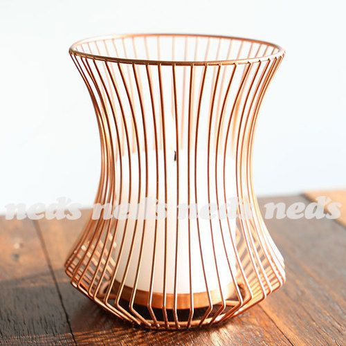 Copper Coloured Candle Holder - Tapered Design