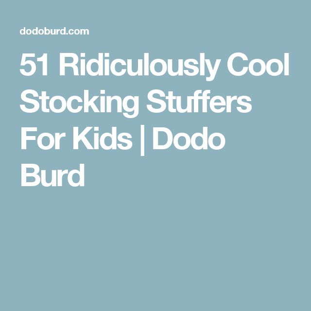 51 Ridiculously Cool Stocking Stuffers For Kids | Dodo Burd