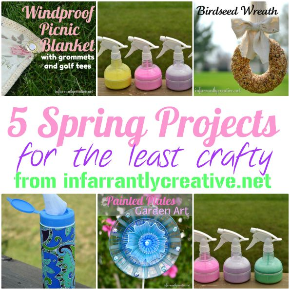 5 easy spring project tutorials from Infarrantly Creative