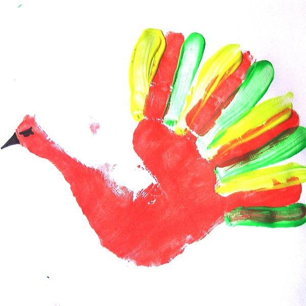 Троицей, картинки из детских ладошек красками