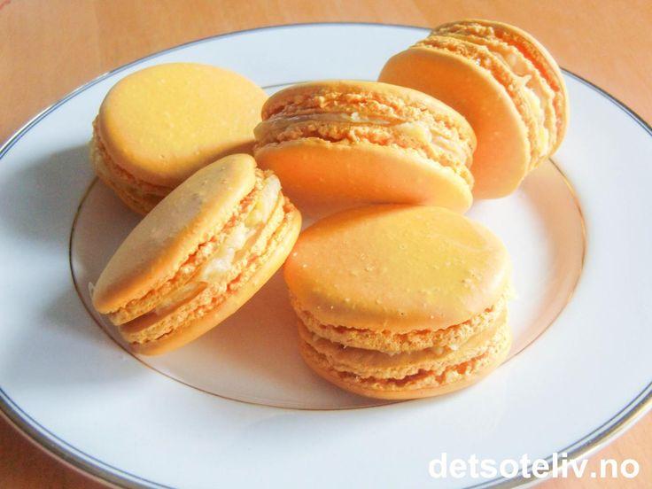 Orange Macarons | Det søte liv