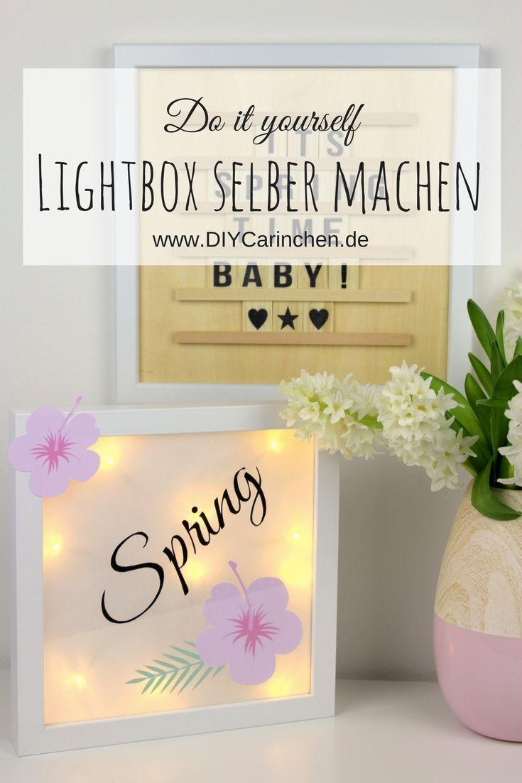 Diy Lightbox Lichterbox Einfach Selbermachen Schone Dekoration