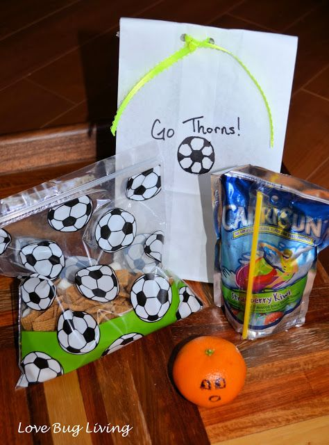 Soccer Team Snack Bag Smores Mix Pumpkin Face Orange Drink Pouch In Paper Kid Stuff Pinterest Snacks And