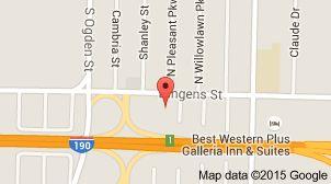 Map of Comfort Inn Near Walden Galleria Mall