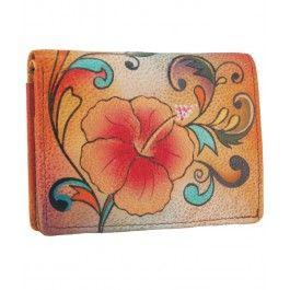 Mini-portofel din piele, Anuschka - o poveste in miniatura