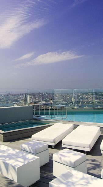 Take in spectacular views of Istanbul's minaret-dotted skyline from the rooftop pool. #Istanbul