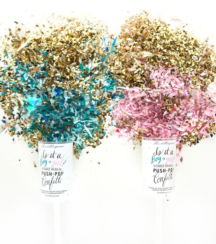 Dazzle the world in confetti and announce the gender of a new arrival with this gender reveal push-pop confetti™! Pink or blue confetti is housed in the mid