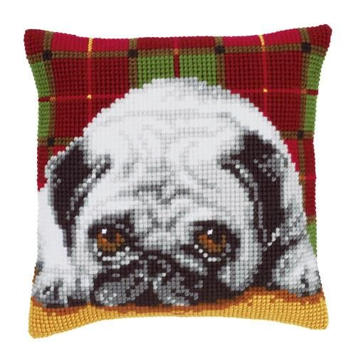 Pug Dog Chunky Cross Stitch - Vervaco