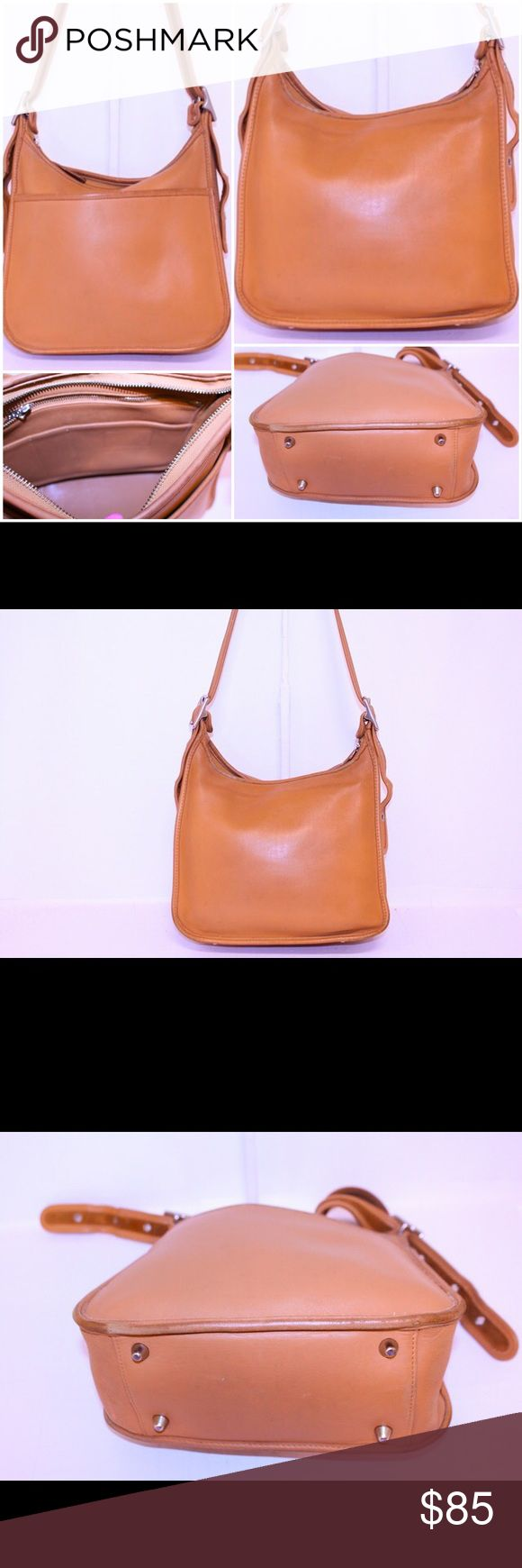 """Coach Vintage Leather Crossbody Handbags Brand: Coach Material: Leather Condition: Used - fair  100% Authentic!!!  Style #:9966  Interior:  Zip Pockets:1  Multi-Function Pockets:2  Exterior:  Strap drop: 10-22""""  Hardware:Silver tone  Closure:Zip  Exterior Pockets:1  Hang tag:1  Please observe pictures thoroughly since its a big part of the description. These are previously carried bags unless otherwise noted.  Some wear. Coach Bags Shoulder Bags"""