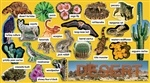 Desert Plants & Animals Mini Bulletin Board Set Gr Pk-5 TF-8076 Teachers Friend Animals | K12 School Supplies | Teacher Supplies