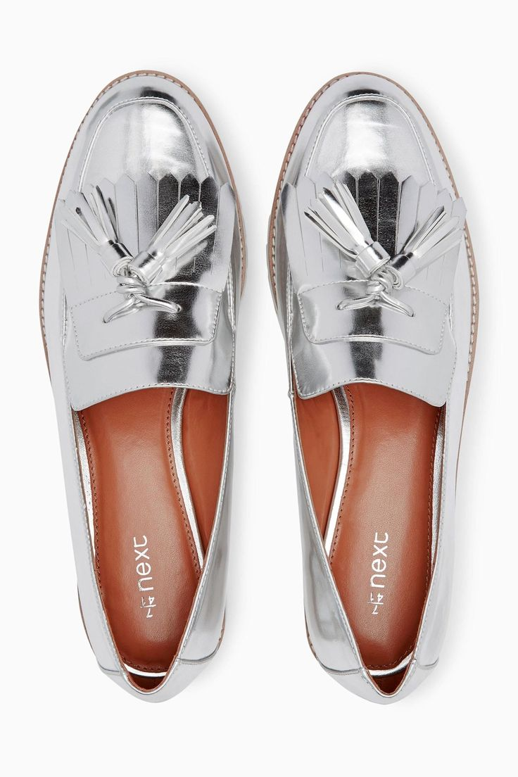 These metallic loafers instantly add style to any outfit!