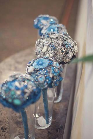 Mini Brooch Bouquet Bridesmaid