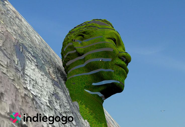 Celebrating Nelson Mandela's 95th birthday with a monumental design. A sculptural building that resembles the head of Nelson Mandela in Cape Town, South Africa.  Support via: http://www.indiegogo.com/projects/mandela-on-the-mountain