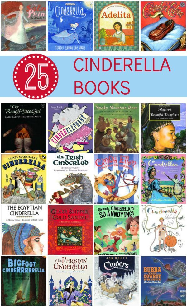 25 Cinderella Books for Kids~Includes the classic tale, tales from around the world, and the versions of the classic with a twist
