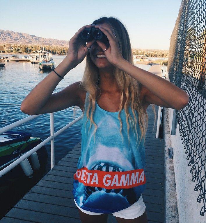 Kick off Shark Week with a DG! #SharkWeek #TheSocialLife #Delta Gamma