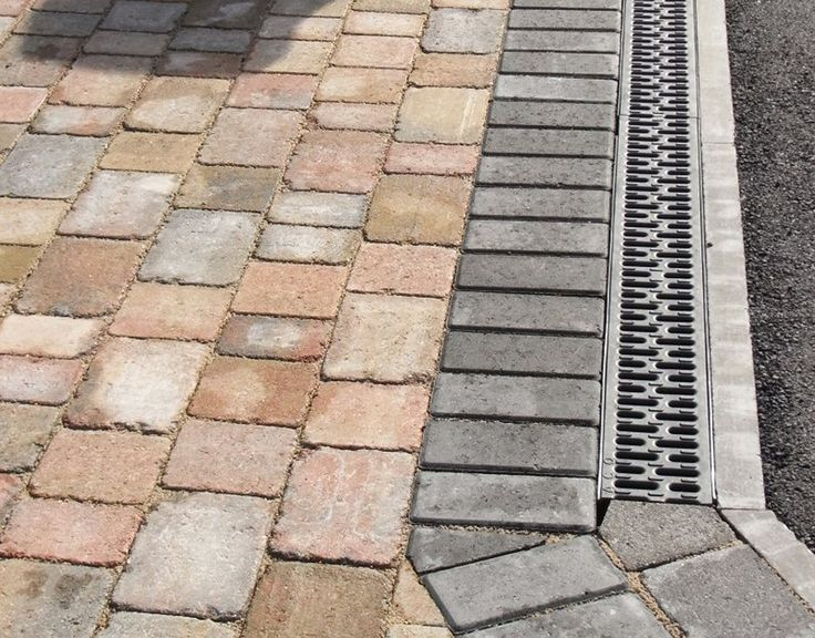 3 Size Multi block paving, with an Aco Channel leading to a new soak-away