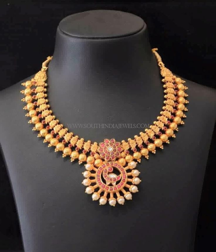 South Indian Gold Necklace Designs: South indian mango design gold ...
