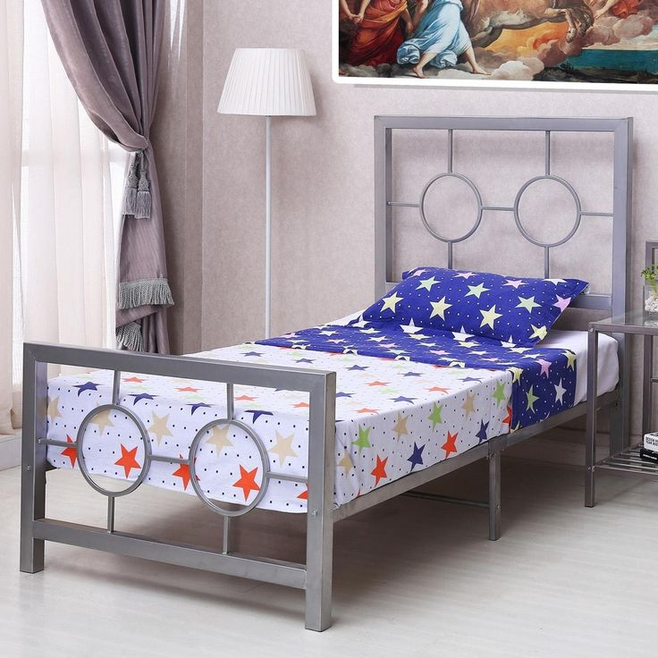 Home Source Eternity Circle Design tone Bed Frame