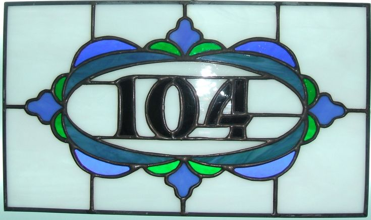 69 Best Stained Glass House Numbers Images On Pinterest