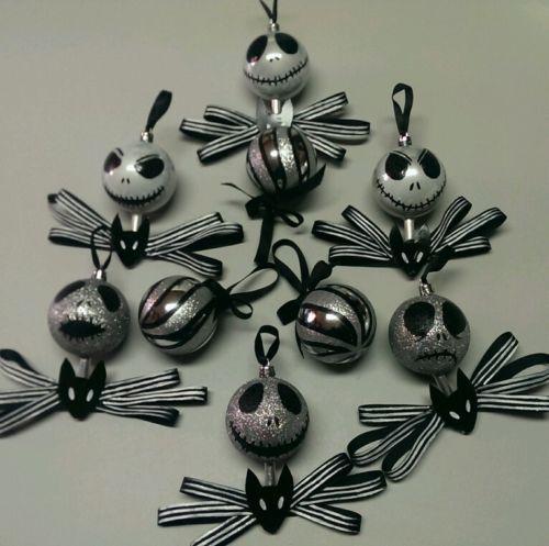 Handmade Nightmare Before Christmas Ornaments (Jack Skellington set)