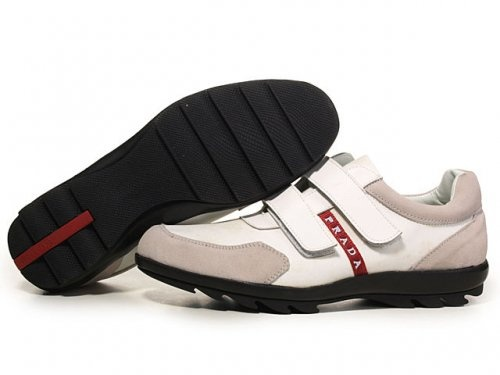 Prada Sneakers For Men Grey Double Buckle
