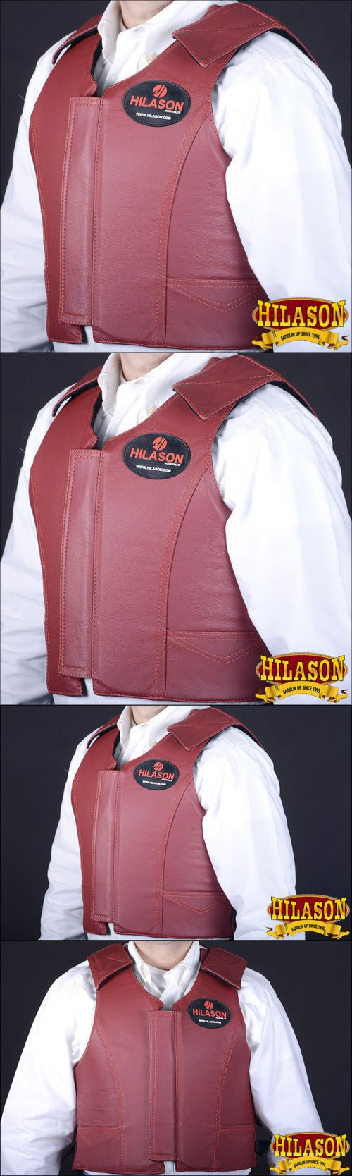 Other Protective Gear 87446: Cpv111nd Hilason Leather Bareback Pro Rodeo Horse Riding Protective Vest - Med -> BUY IT NOW ONLY: $149.99 on eBay!