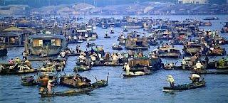 Life on river, Vietnam