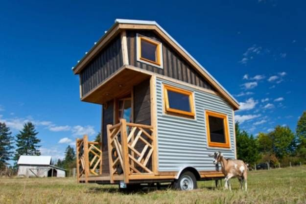 tiny house on trailer | Trailer Transformed into Miniature Modern House Featuring Warm Wood ...