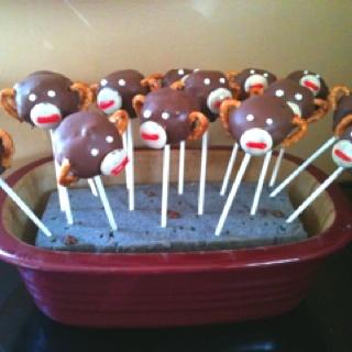 Homemade Monkey Cake Balls chez moi!!! Happy 1st Birthday baby boy!!!