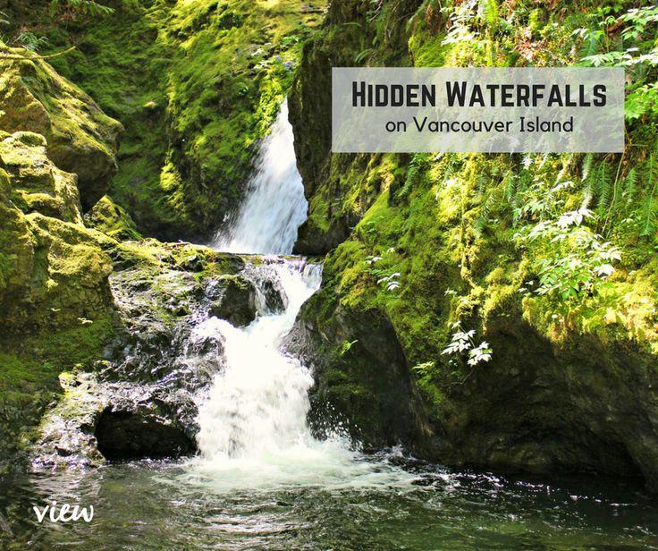 Hidden Waterfalls Between Parksville and Courtenay - Vancouver Island View