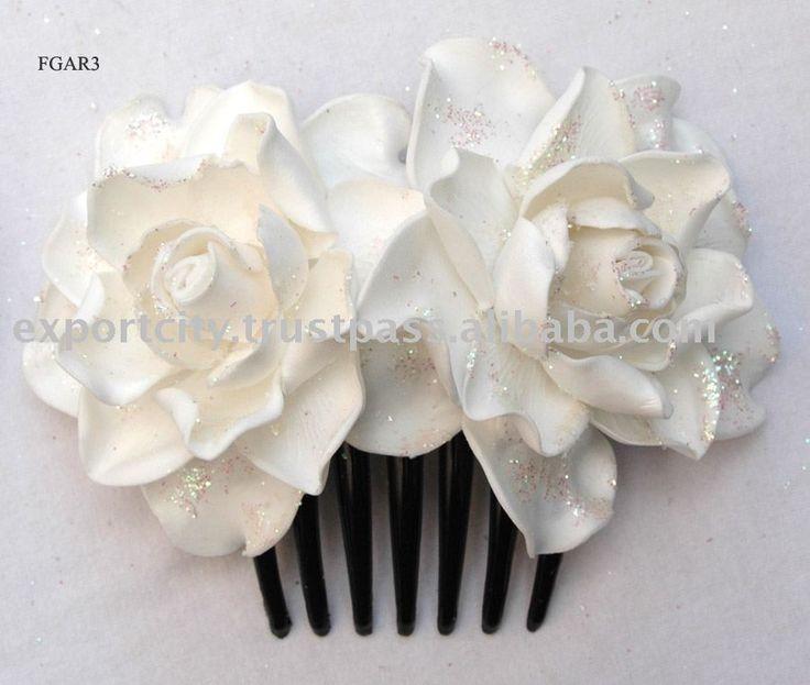gardenia  wedding bouquets   Glitter Bride Hair Flower Foam Gardeniajpg