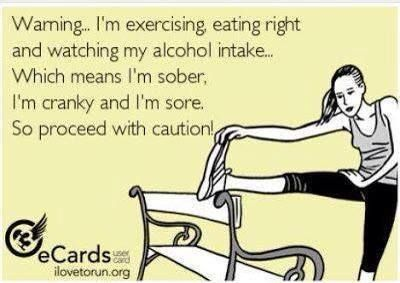Lol this is funny but so true at least the part that Im not drinking as much because of the calories I dont want to out into my body. Its my choice because Ive changed my lifestyle. But Im not cranky Im extremely happy with my results #Funny #Fitness #Humor More